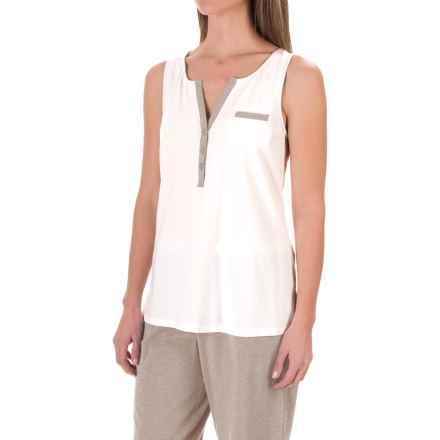 Carole Hochman Lounge Tank Top (For Women) in Ivory/Mocha Heather - Closeouts