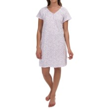 Carole Hochman Melody Nightshirt - Short Sleeve (For Women) in Vine Pink - Overstock