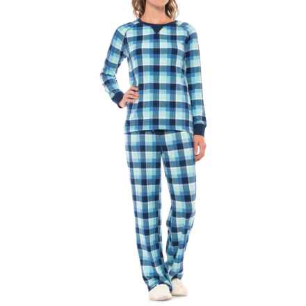 Carole Hochman Microfleece Pajamas - Long Sleeve (For Women) in Plaid - Closeouts