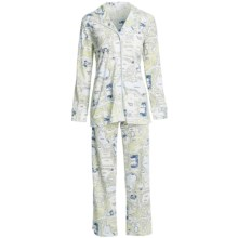 Carole Hochman Midnight Conversational Pajamas - Long Sleeve (For Women) in Central Park - Closeouts