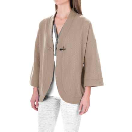 Carole Hochman Pajama Shirt - Open Front, Long Sleeve (For Women) in Coffee - Closeouts