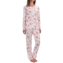 Carole Hochman  Pajamas - Long Sleeve (For Women) in Ivory Roses - Overstock