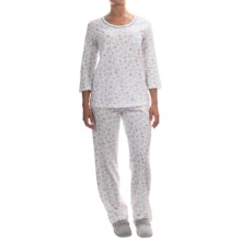 Carole Hochman Printed Cotton Jersey Pajamas - Elbow Sleeve (For Women) in Breakfast At Tiffanys - Overstock