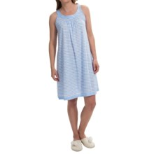 Carole Hochman Scoop Neck Nightgown - Sleeveless (For Women) in Blue Floral - Closeouts