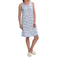 Carole Hochman Scoop Neck Nightgown - Sleeveless (For Women) in Multi Floral - Closeouts
