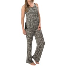 Carole Hochman Strappy Pajamas - Sleeveless (For Women) in Black Hearts - Closeouts