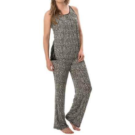 Carole Hochman Strappy Pajamas - Sleeveless (For Women) in Black Hearts - Closeouts