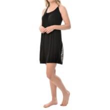 Carole Hochman Strappy Racerback Nightgown - Sleeveless (For Women) in Black - Closeouts