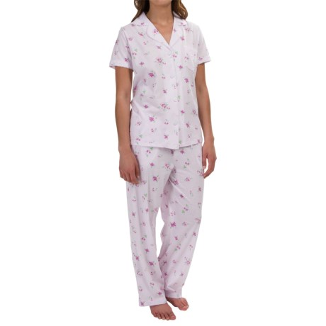 Carole Hochman Violet Garden Pajamas Capris, Short Sleeve (For Women)