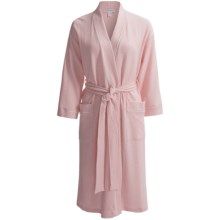 Carole Hochman Waffled Wrap Robe - Long Sleeve (For Women) in Pink - Closeouts
