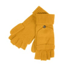 Carolina Amato Pop Top Mitten Gloves - Cashmere (For Women) in Golden - Closeouts