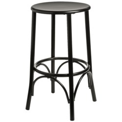 "Carolina Cottage Cafe Bar Stool - 24"" in Black"