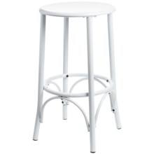 "Carolina Cottage Cafe Bar Stool - 24"" in White - Closeouts"