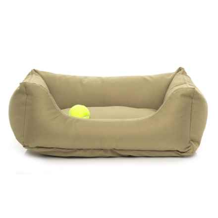 "Carolina Pet Brutus Tuff Kuddle Lounge Dog Bed - 26x19x8"" in Khaki - Closeouts"