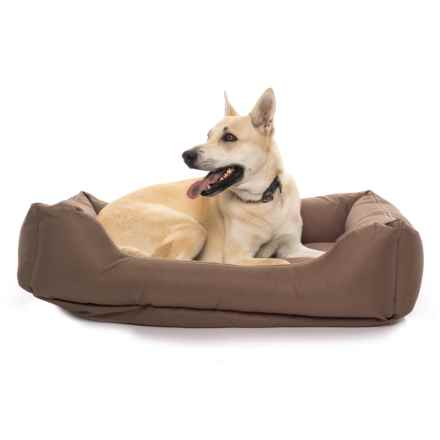 "Carolina Pet Brutus Tuff Kuddle Lounge Dog Bed - 42x30"" in Chocolate - Closeouts"