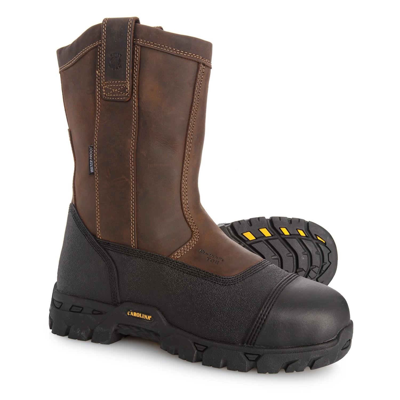 e067cbc4ef4 Carolina Shoe Ranch Wellington Work Boots - Composite Safety Toe,  Waterproof (For Men)