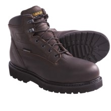 "Carolina Steel Toe Work Boots - 6"", Waterproof, Leather (For Men) in Dark Brown - Closeouts"