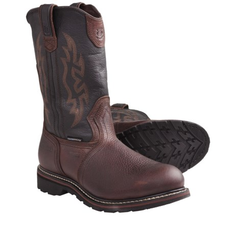Carolina Wellington Work Boots - Aluminum Toe, Waterproof (For Men) in Brown