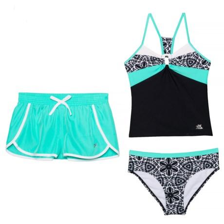 364d660fb7067 Carousel Caper Tankini Set and Shorts (For Big Girls) - ARUBA (7 )
