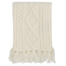 Carraig Donn Handknit Scarf - Merino Wool (For Little Kids) in Off White - Closeouts