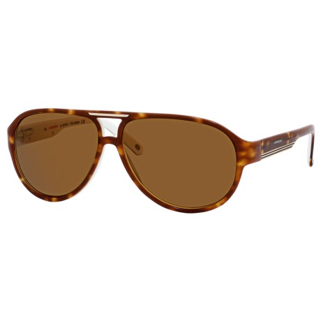 Carrera 7001 Sunglasses - Polarized in Havana White/Brown