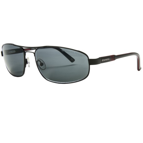 Carrera 7002 Sunglasses - Polarized in Matte Black/Rh Grey