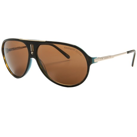 Carrera 7016 Polarized Sunglasses in Black Crystal/Grey