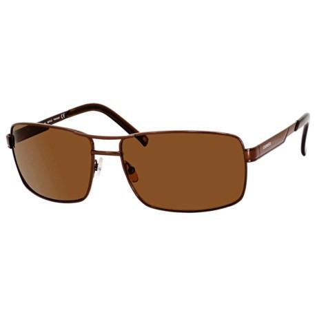 Carrera 7022 Sunglasses - Polarized in Black Matte/Grey