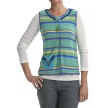 Carson Surfside Vest - Ramie-Cotton (For Women) in Blue - Closeouts