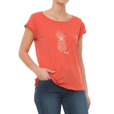 Carve Designs Anderson T-Shirt - Organic Cotton, Short Sleeve (For Women) in Sunkiss