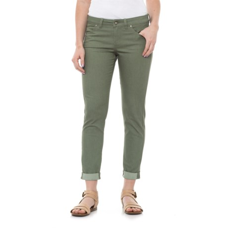 Carve Designs Atlantic Stretch Capris (For Women) in Pale Reed