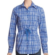 Carve Designs Barcelona Shirt - Cotton, Long Sleeve (For Women) in Blurple Plaid - Closeouts