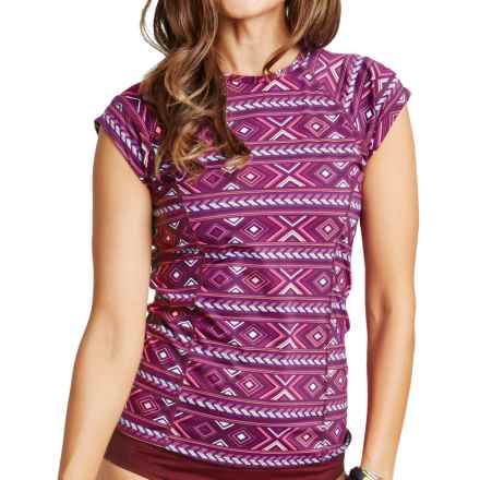 Carve Designs Belles Beach Rash Guard - UPF 50+, Short Sleeve (For Women) in Plum Bali - Closeouts
