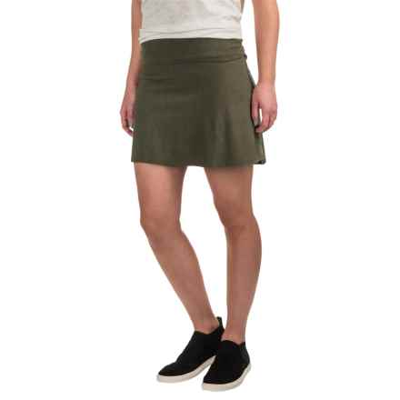 Carve Designs Bennet Flirt Skirt - Organic Cotton (For Women) in Fatigue - Closeouts