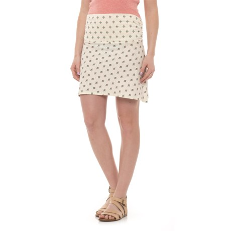 Carve Designs Bennet Flirt Skirt - Organic Cotton (For Women) in Ivory Montego