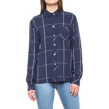 Carve Designs Betasso Shirt - Long Sleeve (For Women) in Anchor Windowpane