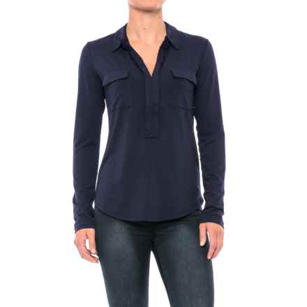 Carve Designs Bodega Shirt - Long Sleeve (For Women) in Anchor - Closeouts