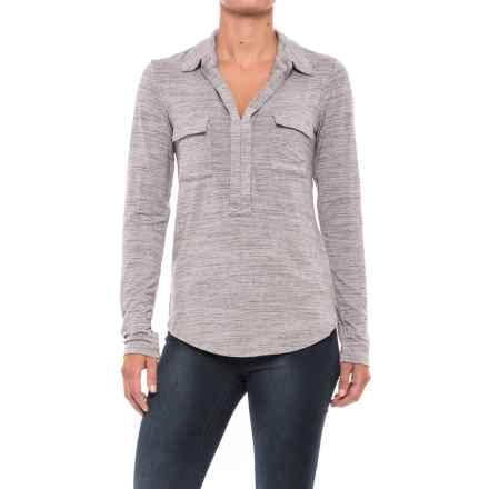 Carve Designs Bodega Shirt - Long Sleeve (For Women) in Grey Space Dye - Closeouts