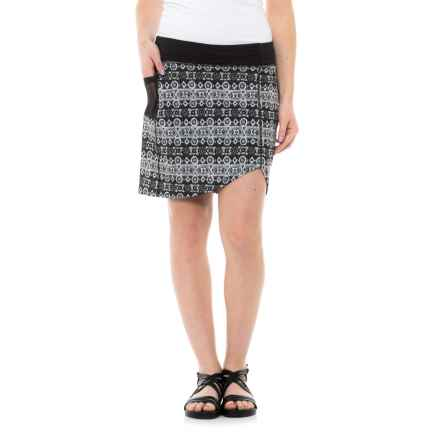 Carve Designs Bristol Asymmetrical Skort - Built-In Liner Shorts (For Women) in Charcoal Teton - Closeouts