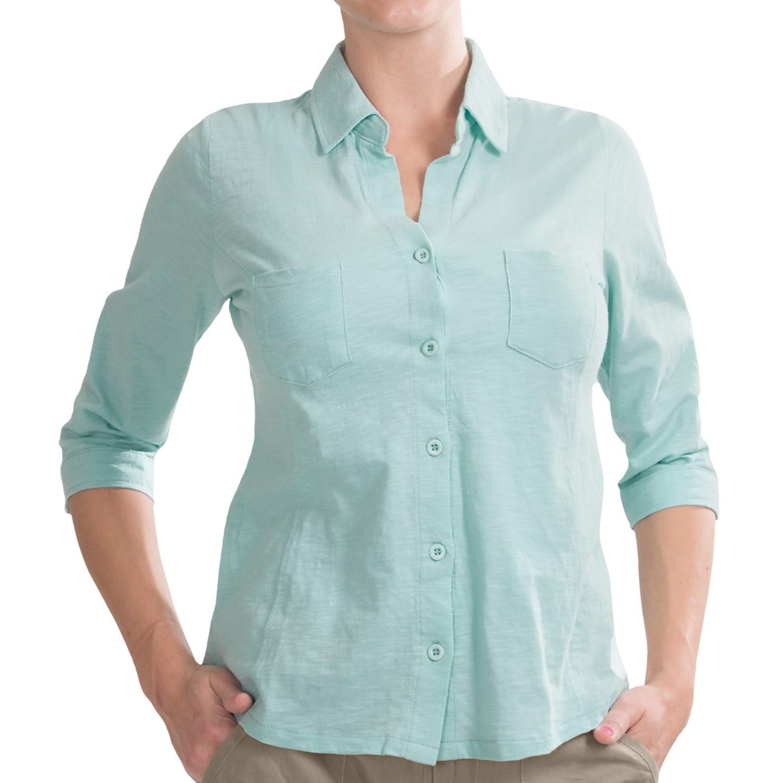 Carve Designs Bryn Shirt Slub Organic Cotton Button Up