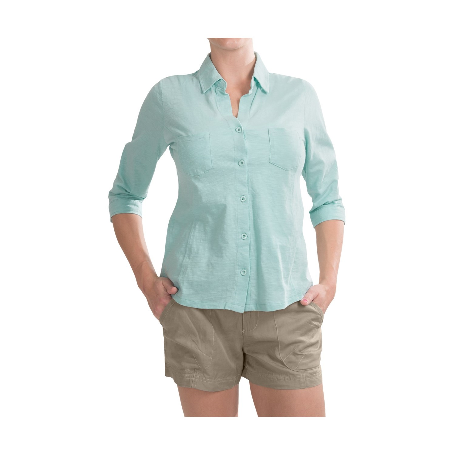 Carve designs bryn shirt for women 6762u save 37 for Cotton button up shirt