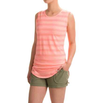 Carve Designs Cannon T-Shirt - Sleeveless (For Women) in Orange Crush - Closeouts
