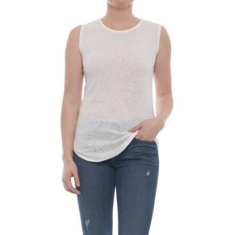 Carve Designs Cannon T-Shirt - Sleeveless (For Women) in White Stargazer