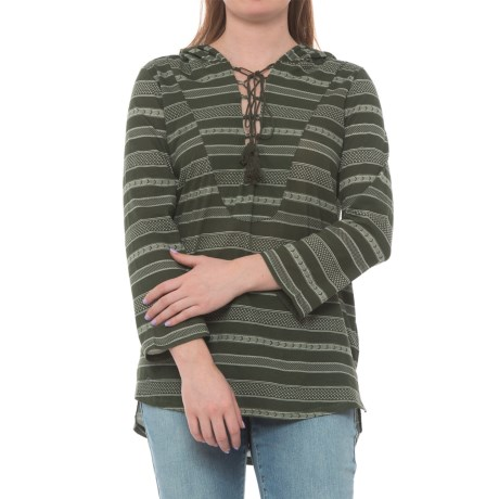Carve Designs Cantina Hoodie - Organic Cotton (For Women) in Reed Atlas Stripe