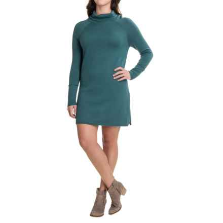 Carve Designs Carbondale Knit Dress - Merino Wool, Long Sleeve (For Women) in Spruce - Closeouts