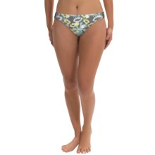 Carve Designs Cardiff Bikini Bottoms - UPF 50+ (For Women) in Surf Ikat W/Grphite - Closeouts