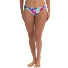 Carve Designs Cardiff Bikini Bottoms - UPF 50+ (For Women) in White Hibiscus - Closeouts