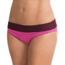 Carve Designs Catalina Bikini Bottoms - UPF 50+, Four-Way Stretch (For Women) in Hibiscus Tides/Plum - Closeouts