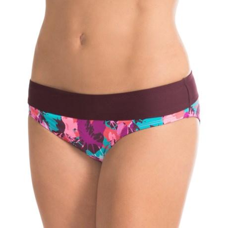 Carve Designs Catalina Bikini Bottoms - UPF 50+, Four-Way Stretch (For Women) in Tahiti/Plum
