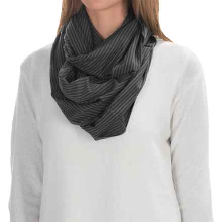 Carve Designs Cedars Infinity Scarf (For Women) in Black Stripe - Closeouts